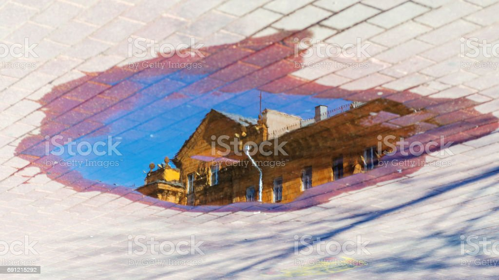 Abstract cityscape background stock photo
