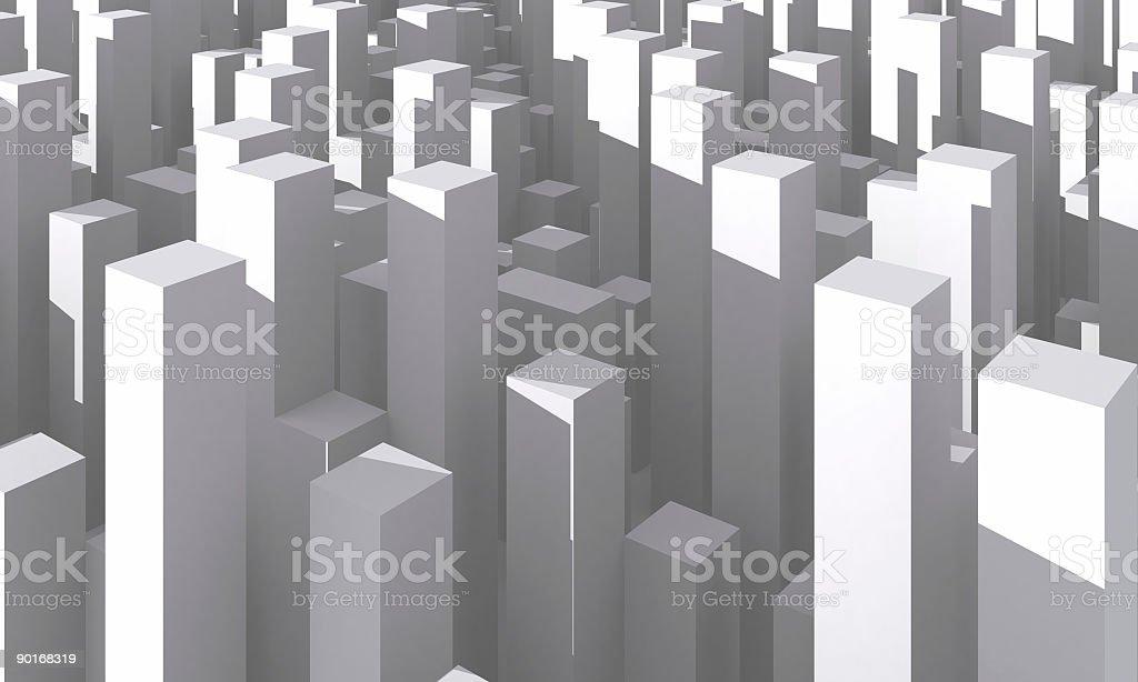 Abstract Cityscape royalty-free stock photo