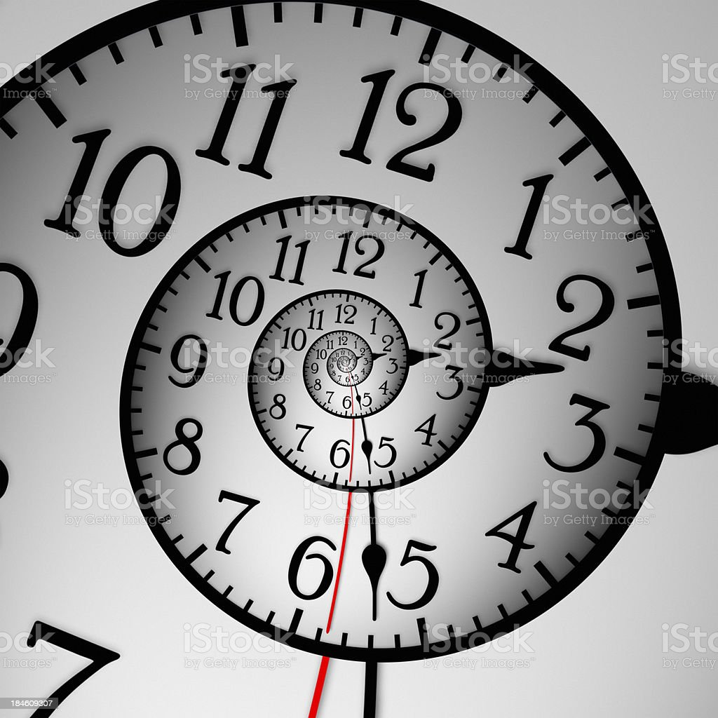 Abstract Clock stock photo
