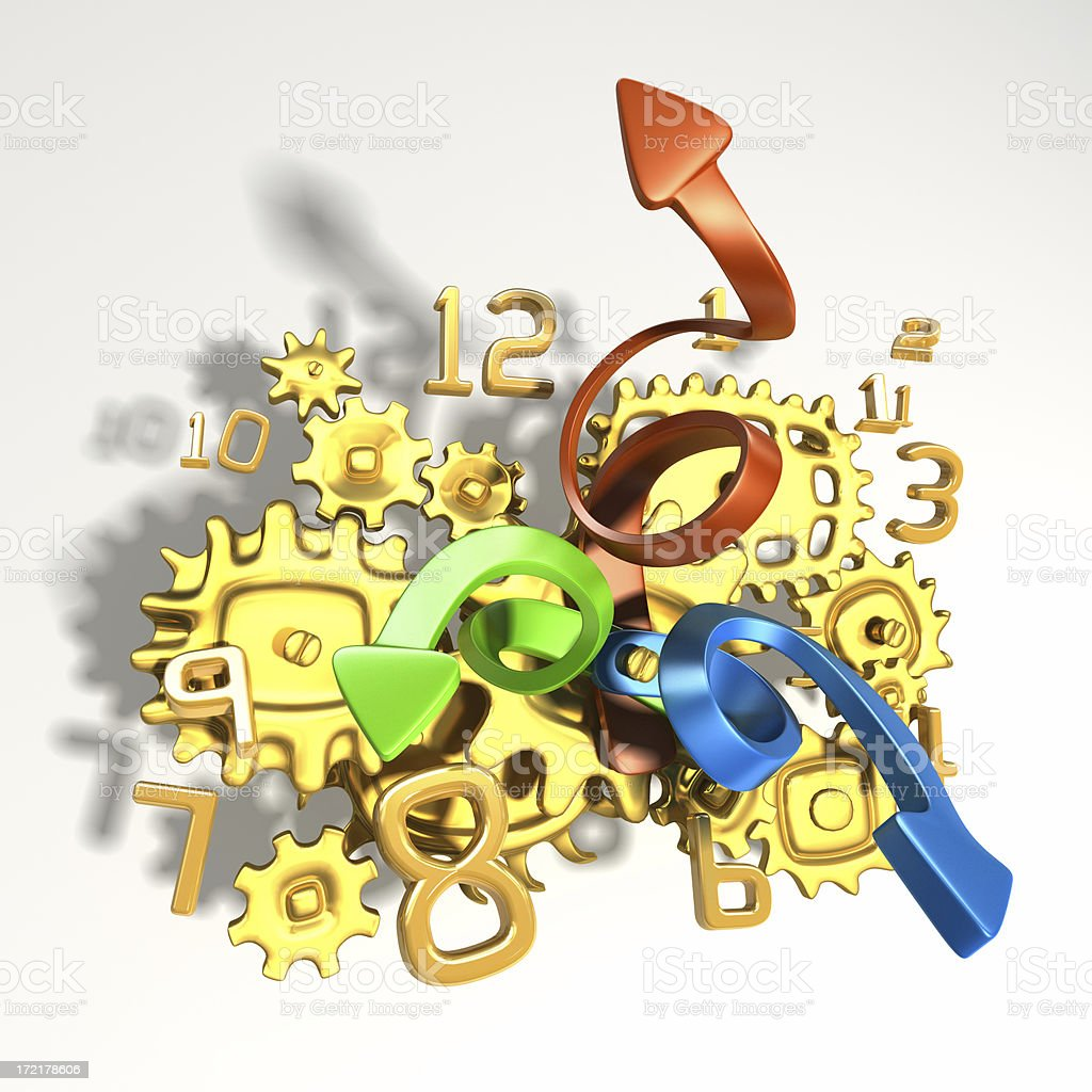 Abstract clockwork stock photo