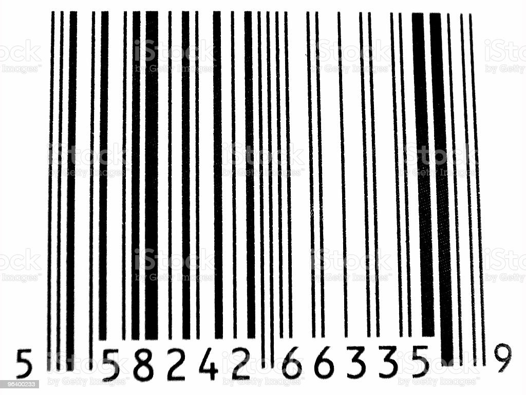 Abstract Closeup of Bar Code royalty-free stock photo