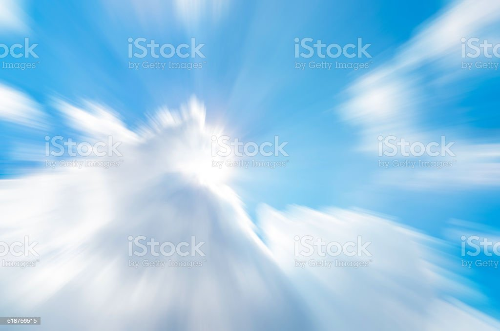 Abstract cloud motion blur stock photo