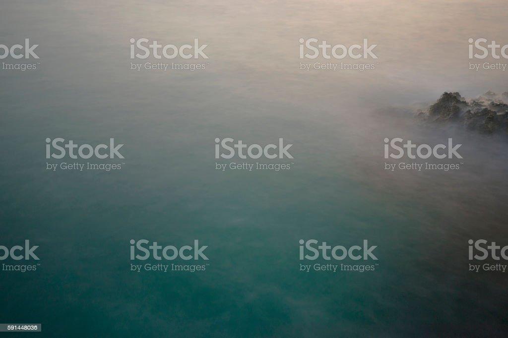 Abstract Coast, Rock and Sea stock photo