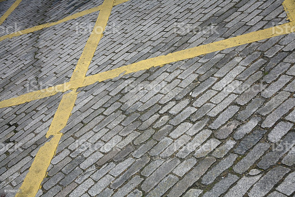 Abstract Cobble Road royalty-free stock photo