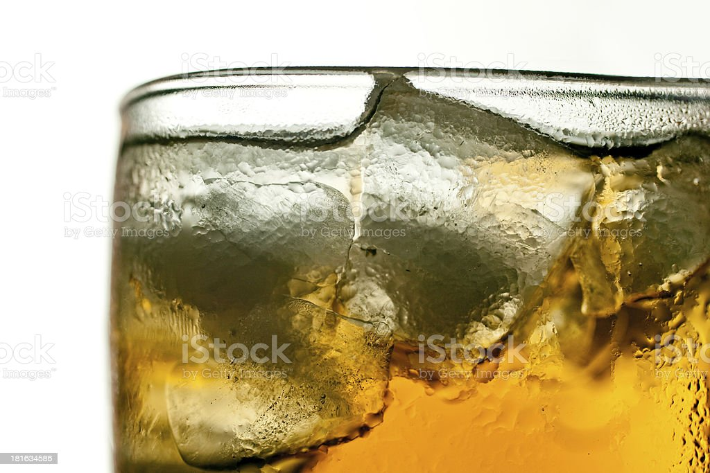 Abstract Cold Softdrink Isolated on White Background royalty-free stock photo