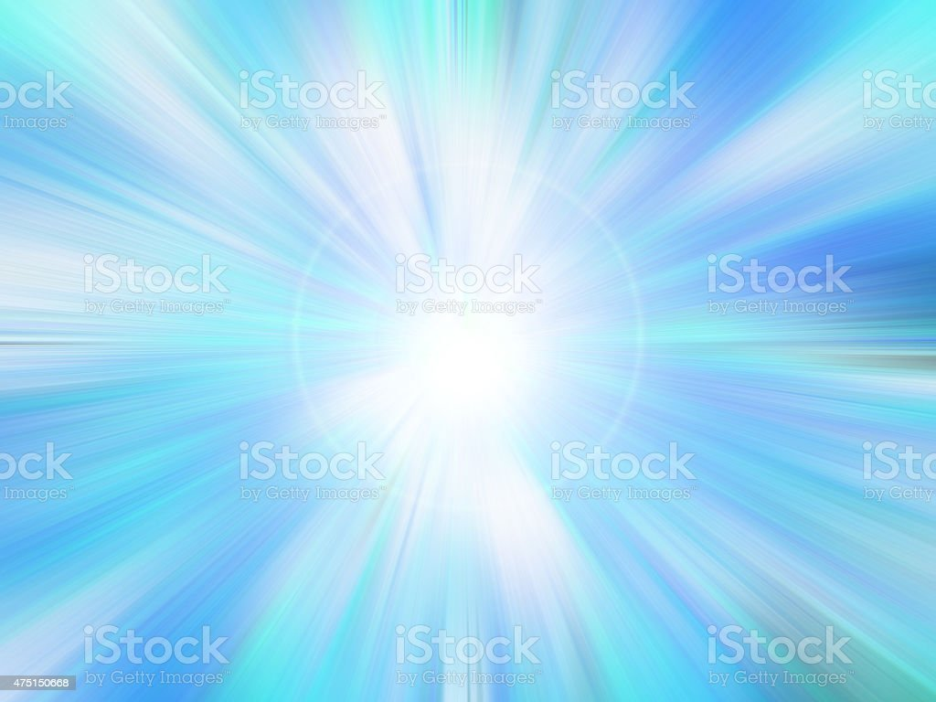 Abstract color blue radiant background. stock photo