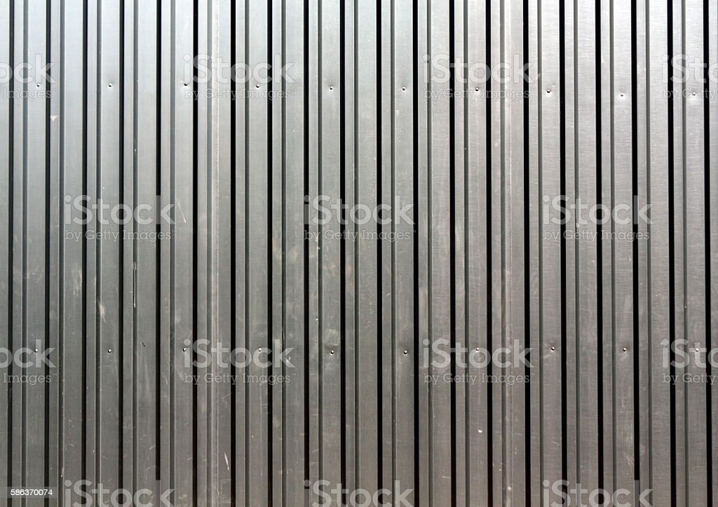 Abstract color metal plate fence texture. stock photo