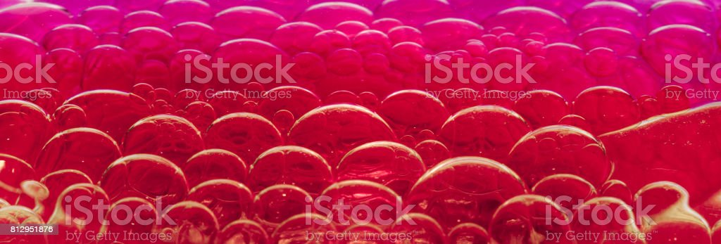 Abstract color oil bubble close up stock photo
