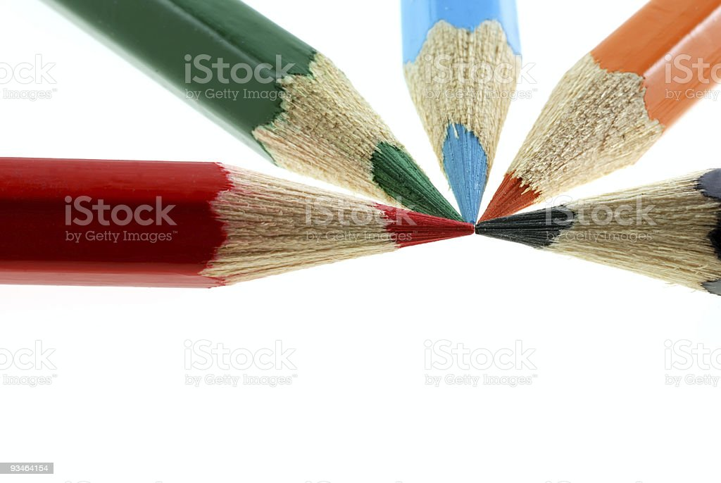 abstract color pencils royalty-free stock photo