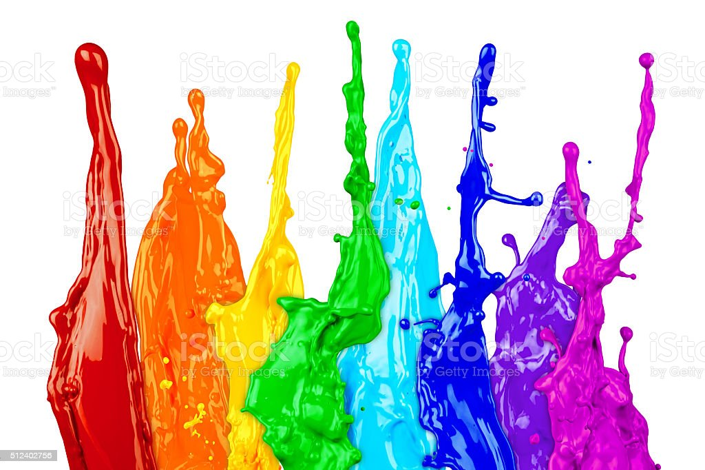abstract color splash rainbow stock photo