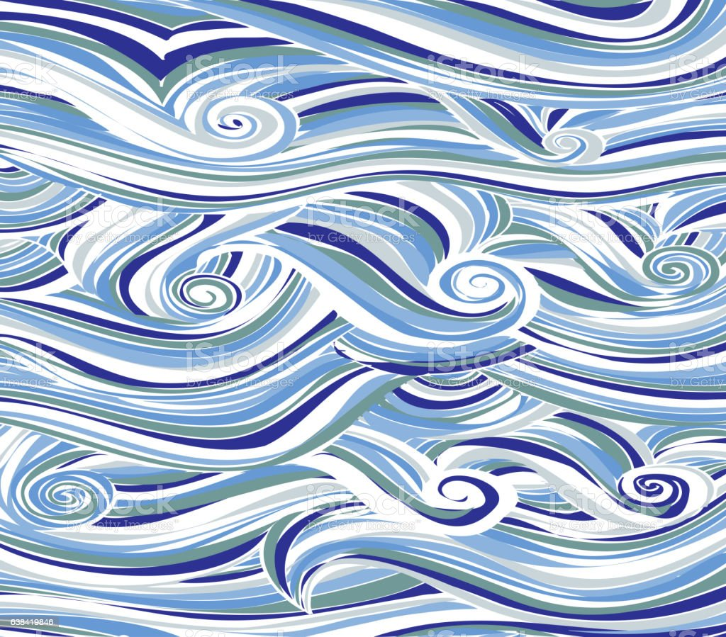Abstract colored background is imitating the sea waves.Vector stock photo