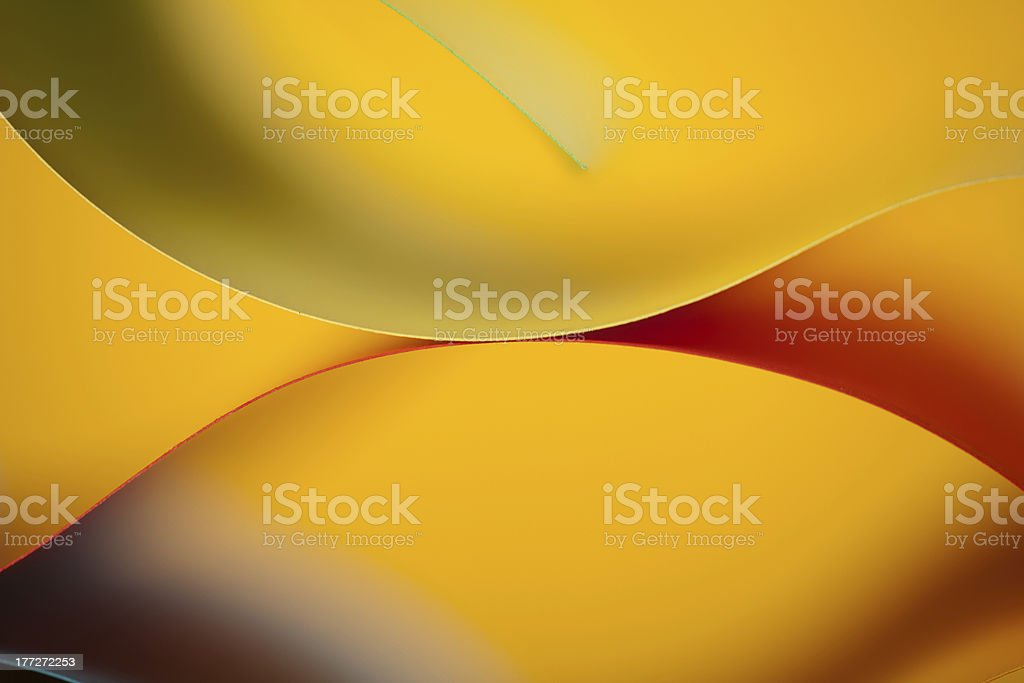 abstract colored paper structure on yellow background royalty-free stock photo
