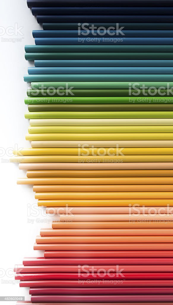 Abstract colored pencil sound wave composition royalty-free stock photo