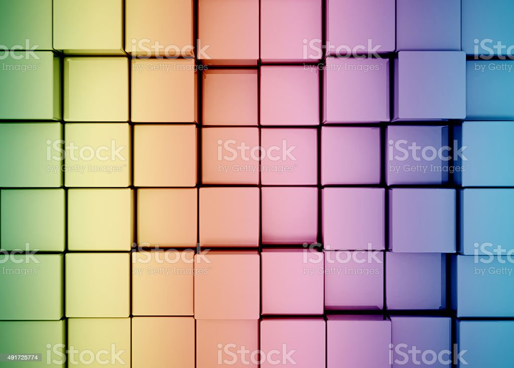 abstract colorful 3d cubes background stock photo