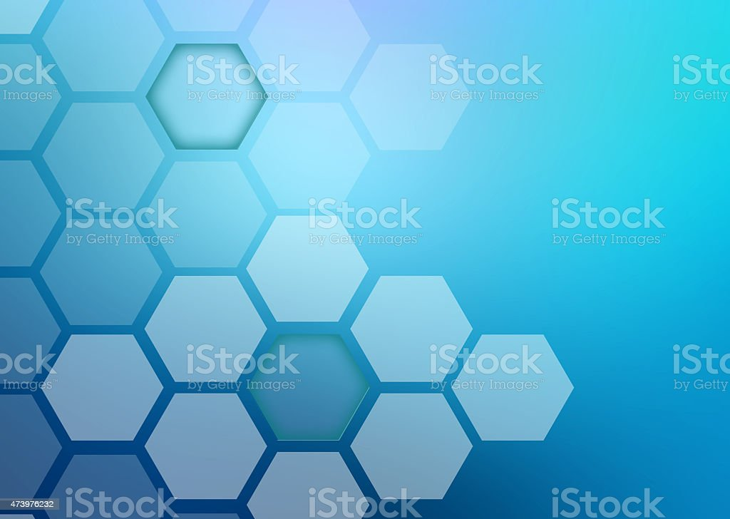 Abstract colorful background of hexagonal shapes different sizes stock photo