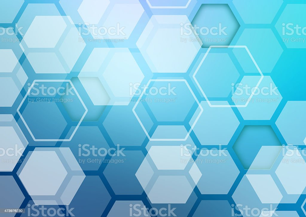Abstract colorful background of hexagonal shapes randomly collected stock photo