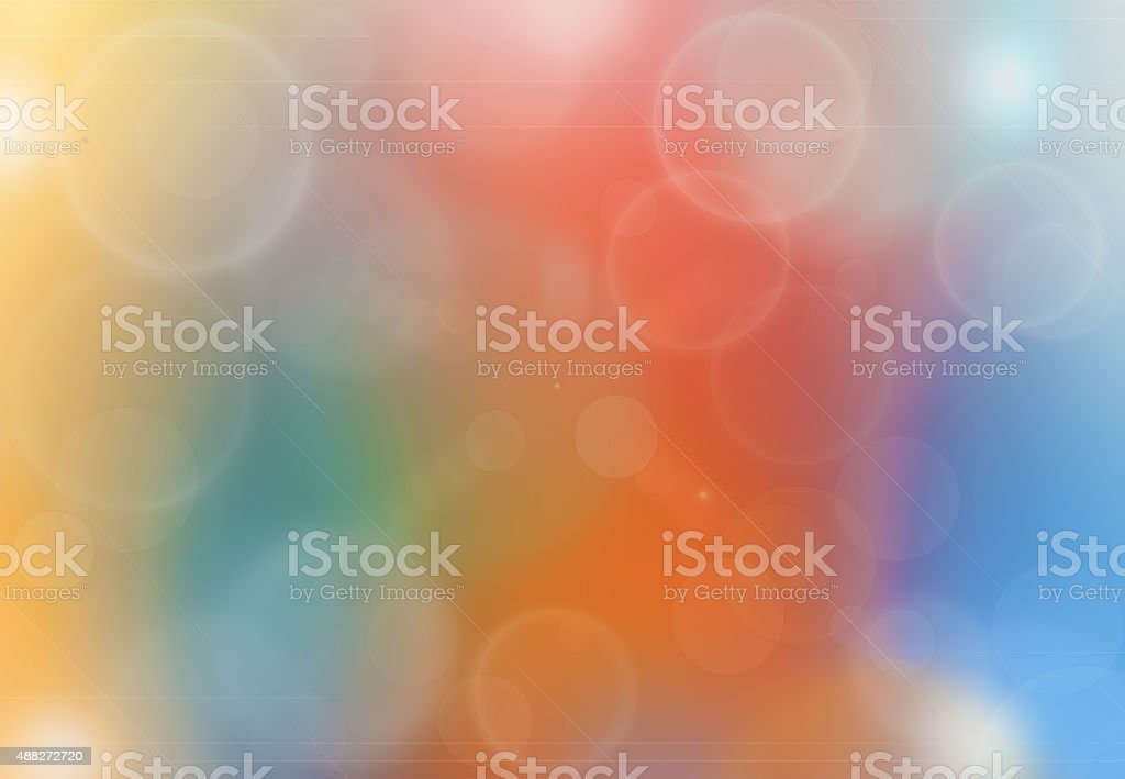 Abstract colorful background with bokeh lights vector art illustration