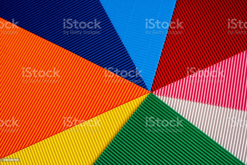 abstract colorful cardboards stock photo