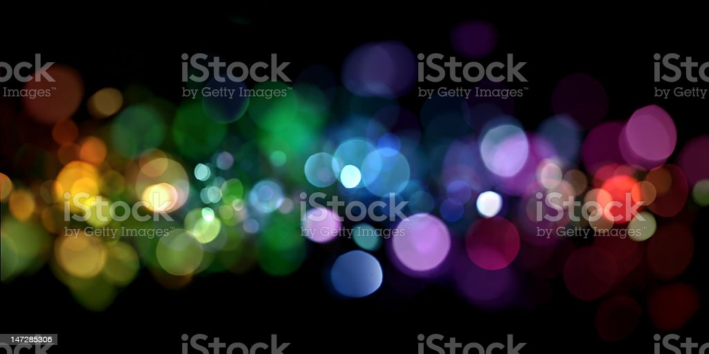 Abstract colorful circles on a black background stock photo