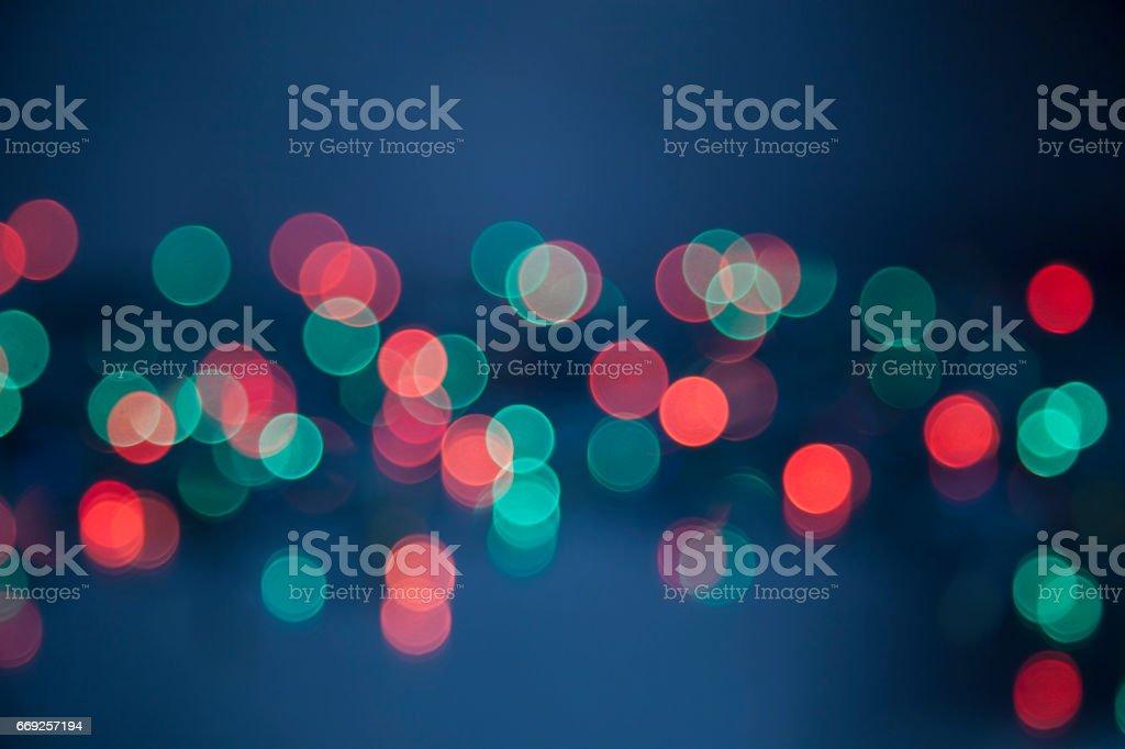 Abstract colorful circular bokeh background stock photo