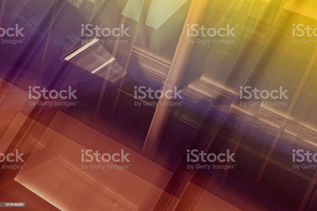 Abstract colorful dynamic architecture royalty-free stock photo