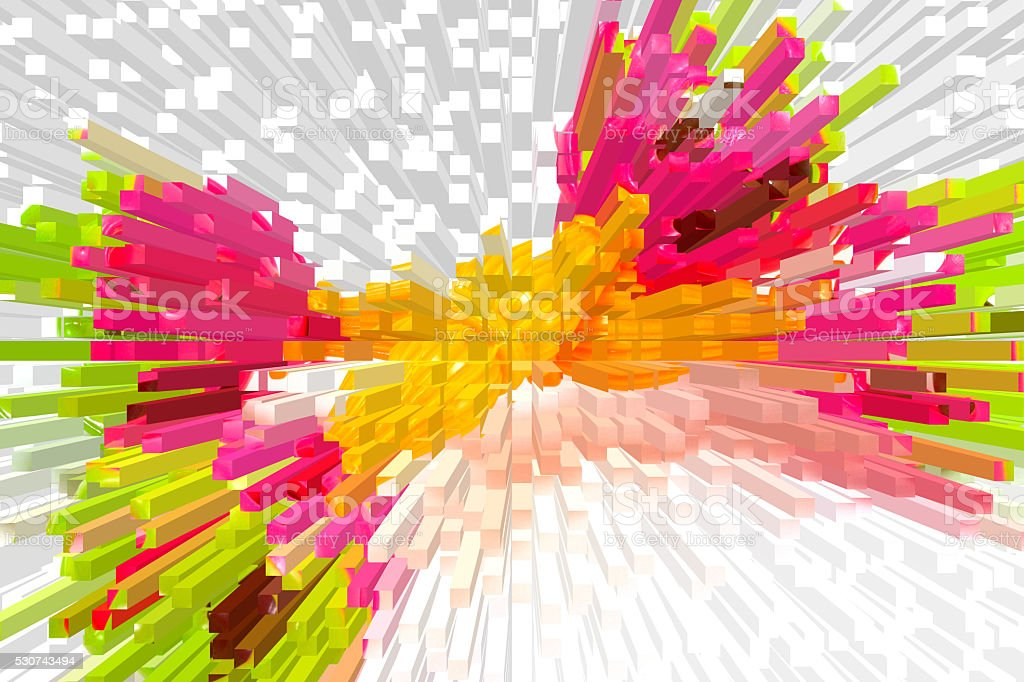 abstract colorful extuded background stock photo