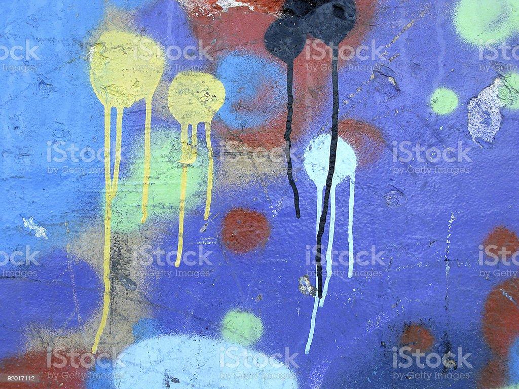 Abstract colorful graffiti royalty-free stock photo
