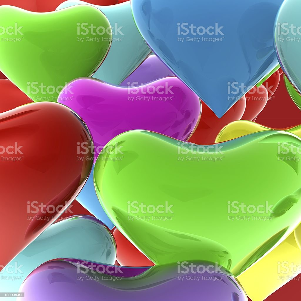 Abstract colorful hearts background royalty-free stock photo