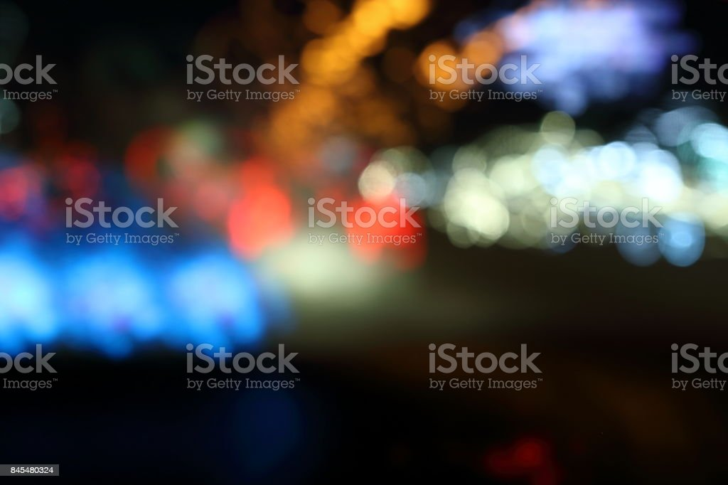 Abstract colorful lights bokeh background stock photo