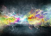 abstract colorful motion smoke
