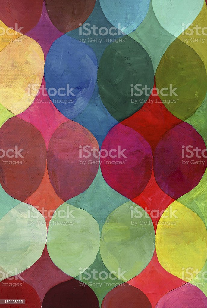 Abstract colorful painted pattern royalty-free stock photo