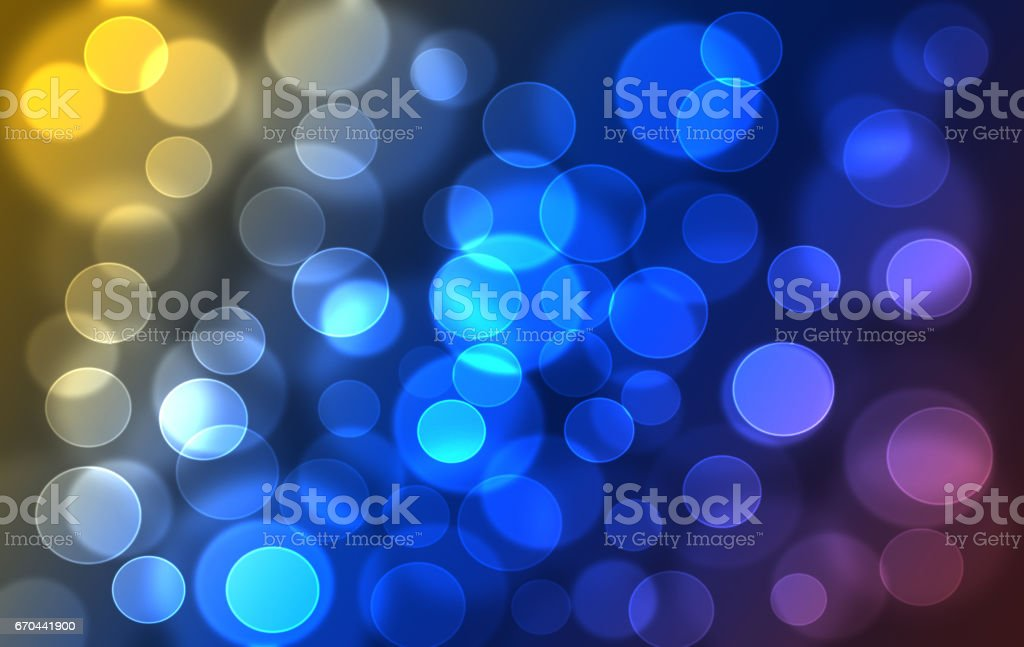 Abstract colorful rainbow defocused, blurred bookeh lights effect texture, background stock photo
