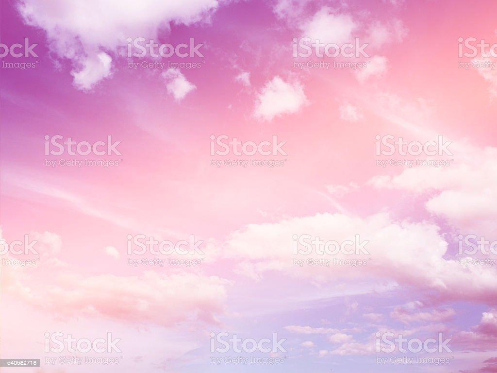 Abstract colorful sky background with clouds stock photo