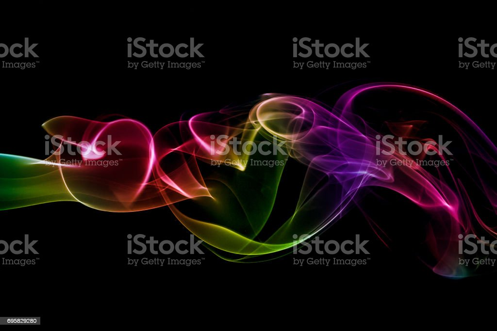 Abstract Colorful smoke stock photo