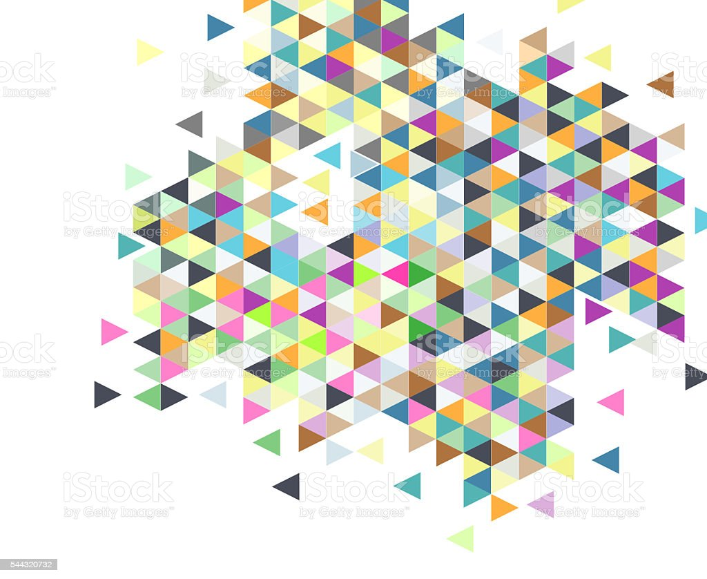 Abstract colorful triangles background stock photo