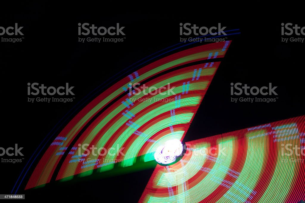 Abstract colors by night royalty-free stock photo