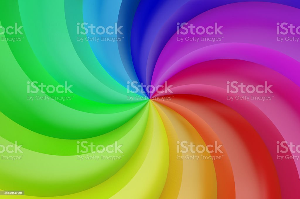 Abstract colors spiral background stock photo