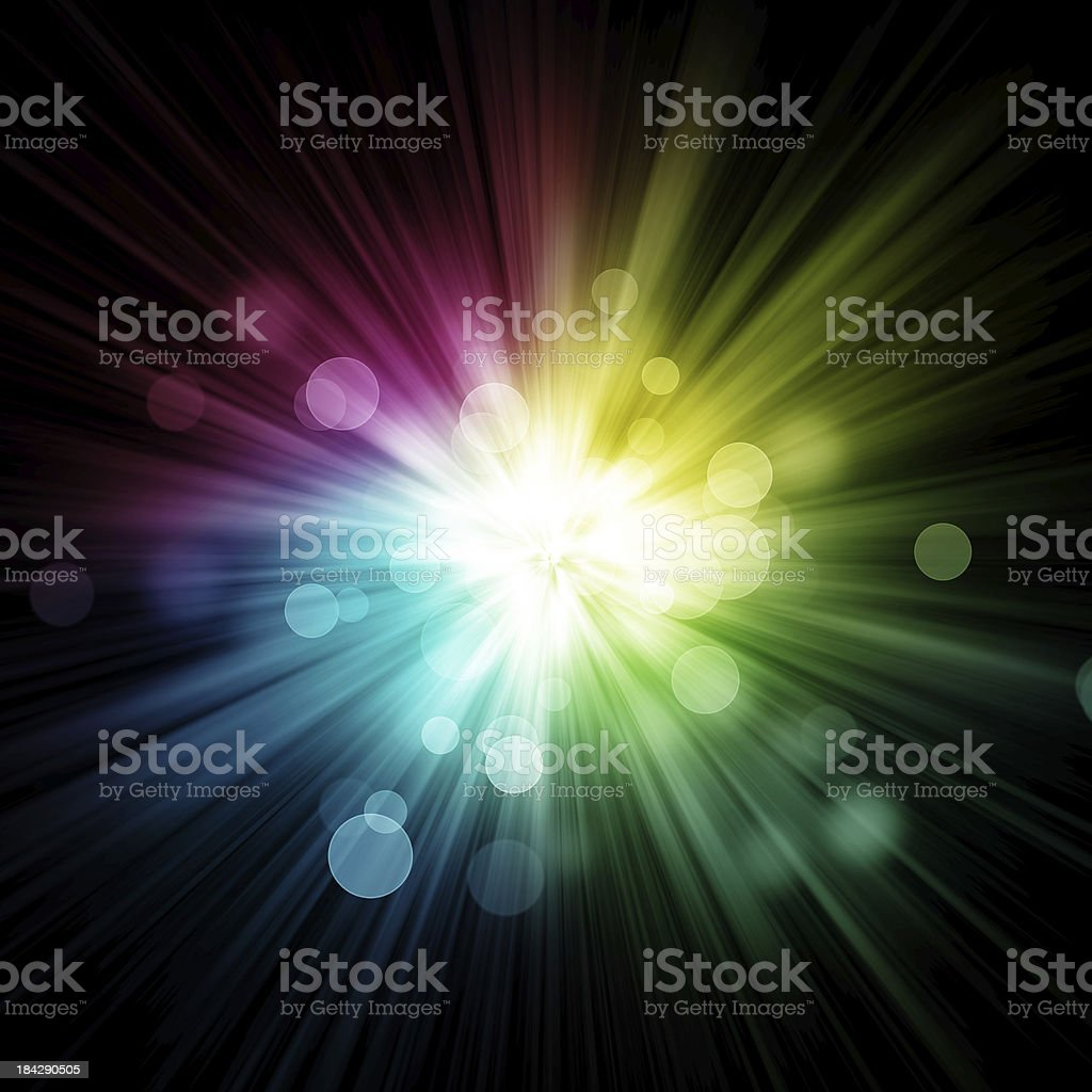 Abstract colour burst stock photo