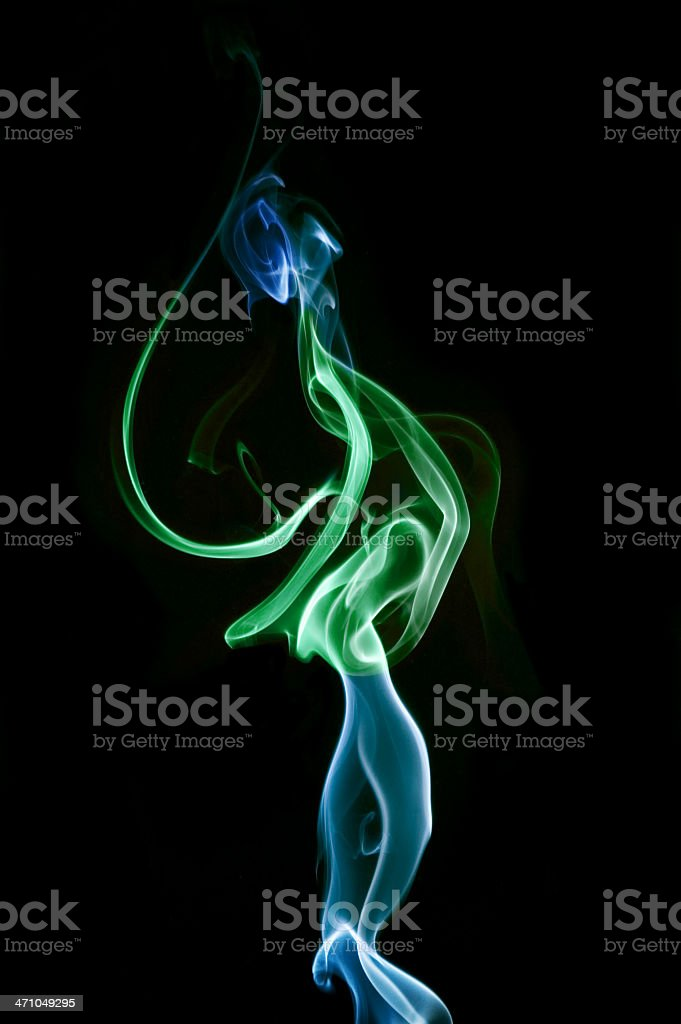 Abstract coloured smoke 'The Ballerina' royalty-free stock photo
