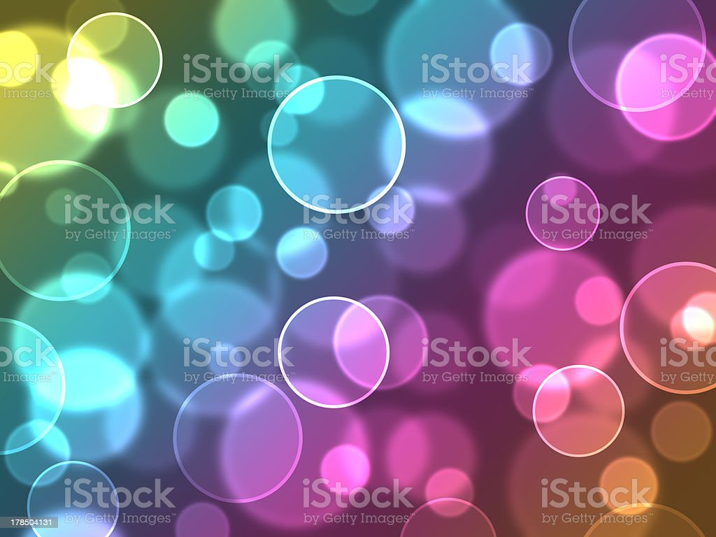 Abstract colourful bubbles royalty-free stock photo