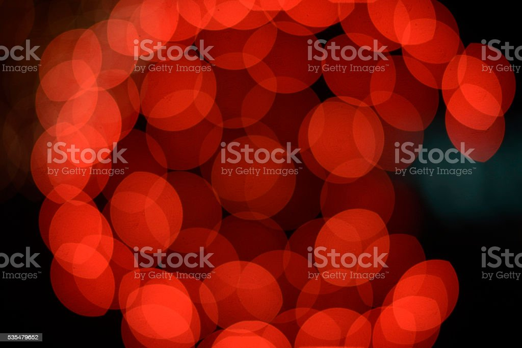 Abstract colourful circular bokeh background of defocused stock photo