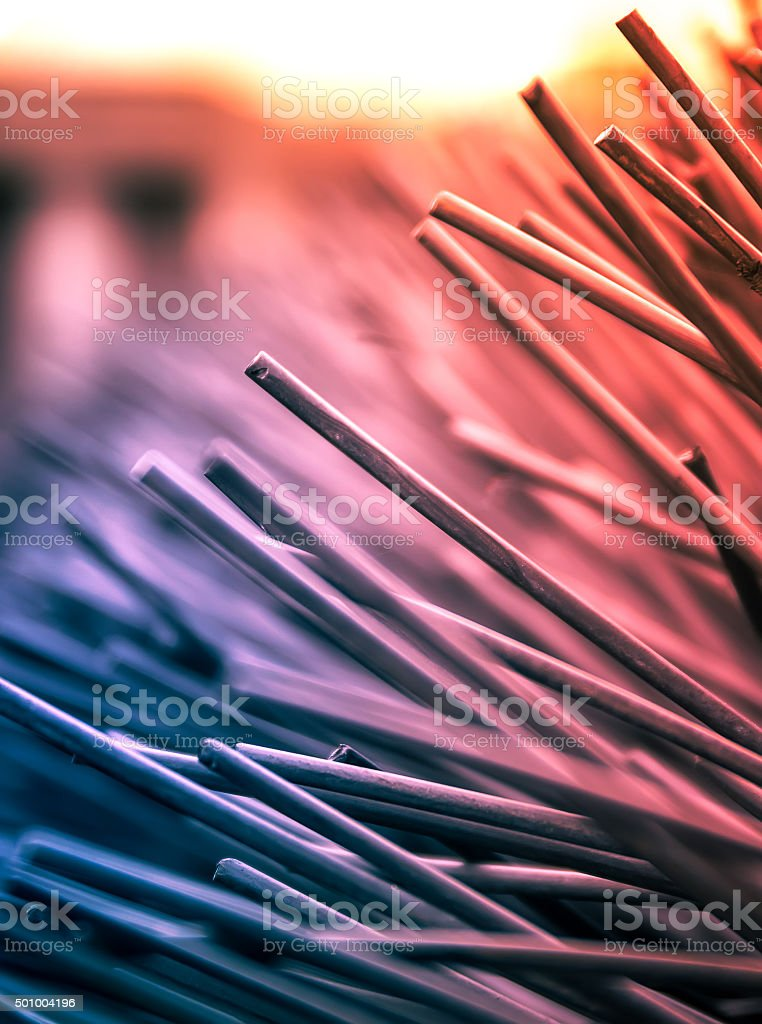 Abstract Comb Stick Background. Hair Comb Shallow Depth of Field stock photo