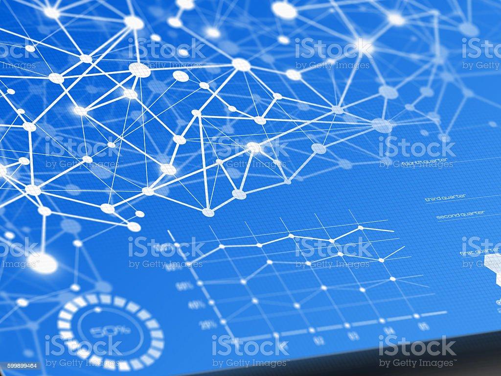 Abstract communication technology stock photo