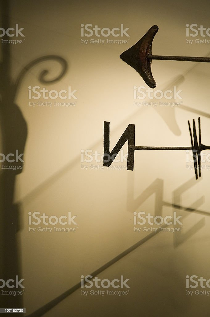 Abstract compass royalty-free stock photo