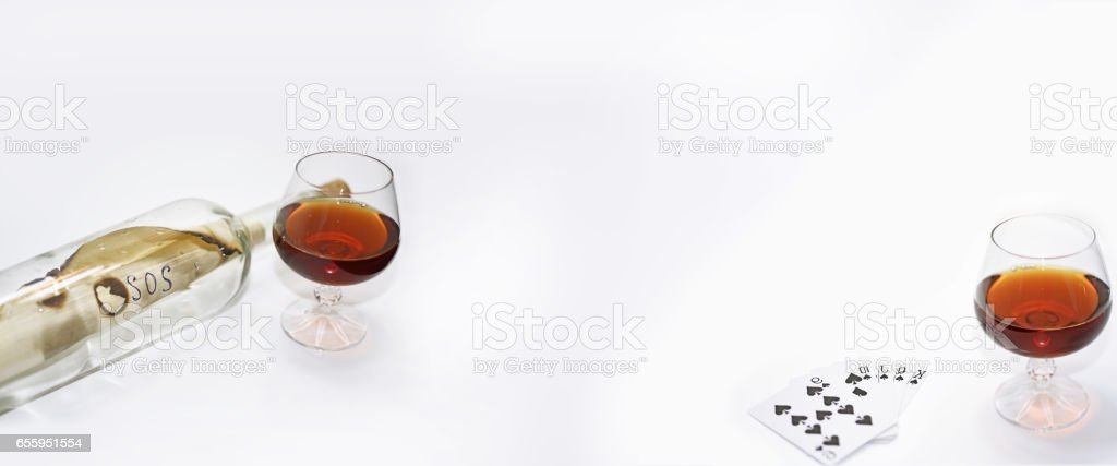 Abstract composition of drinking. stock photo