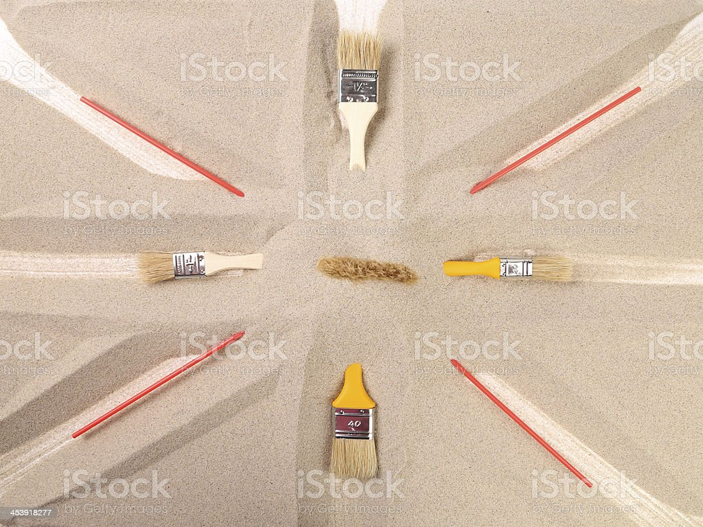 abstract composition on theme of the flag royalty-free stock photo