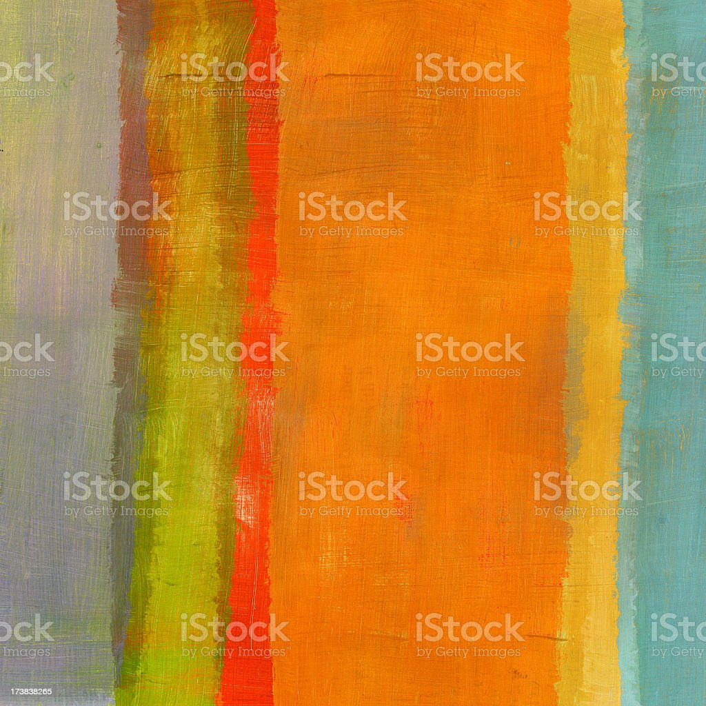 Abstract Composition with Orange Stripe vector art illustration