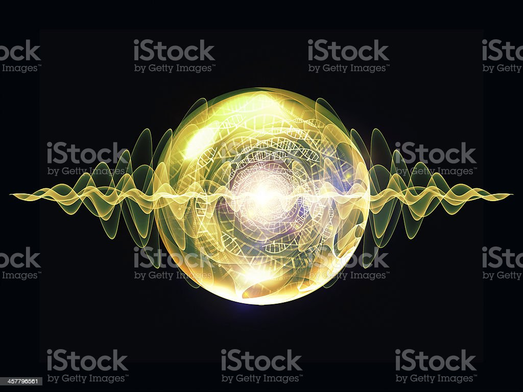Abstract computer generated DNA particle concept royalty-free stock photo