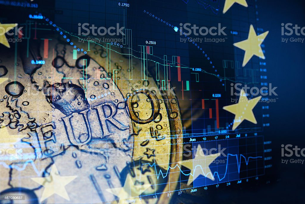 Abstract concept of Euro investment stock photo