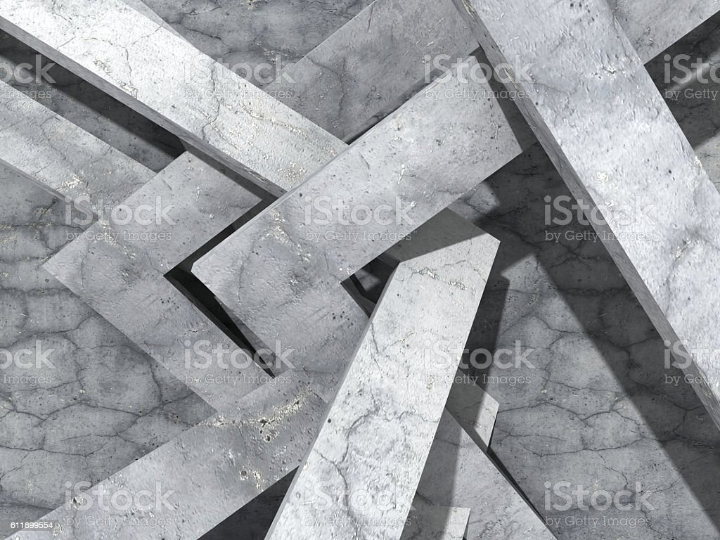 Abstract concrete architecture geometric design background stock photo